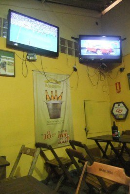 Typical Brazilian streetside pub: Rei Das Batidas, Sao Paulo, Brazil