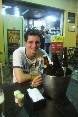 Beer time in Sao Paulo with Rodrigo