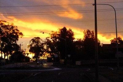 Sunset at Mount Druitt