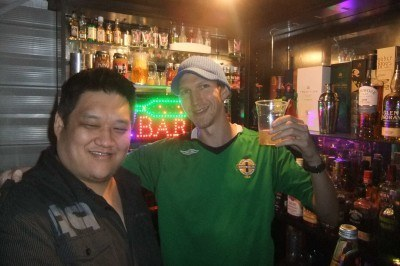 Drinking with Paul at Mount Druitt