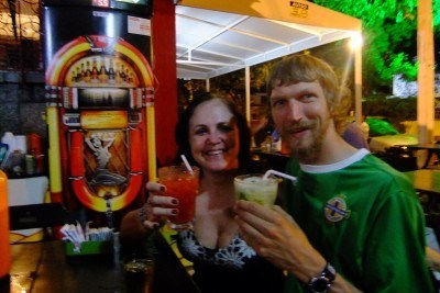 Katia and I partying in Recife, Brazil