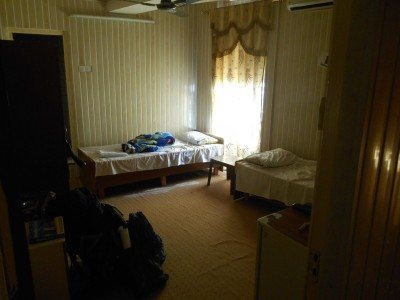 Our room in the Bikhal Hotel in Erbil, Iraq