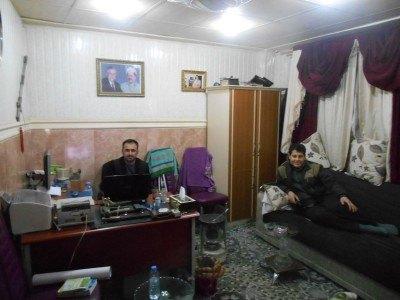 The staff at the Bikhal Hotel in Erbil, Iraq