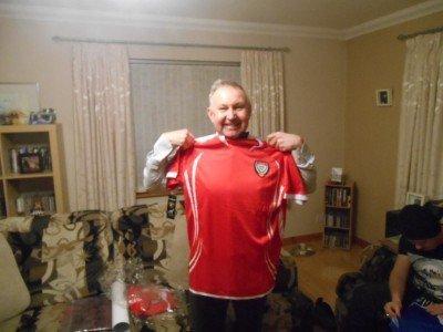 My Dad and his UAE football shirt, fresh from Dubai