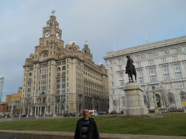Down by Albert Dock in Liverpool