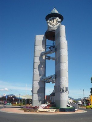 The clock tower in Ulverstone.