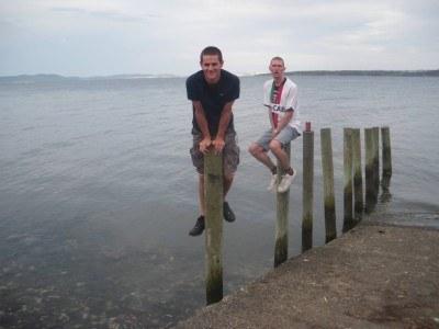 Daniel and I on the last night of the lads in Gordon, Tasmania