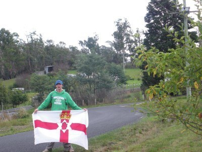 Northern Ireland flag in Bangor, Tasmania