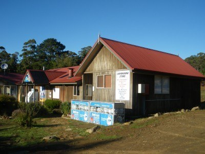 A downtown store in Lunnawanna, Bruny Island
