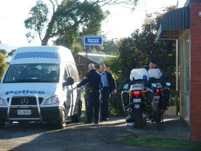 Police at Alonnah, Bruny Island