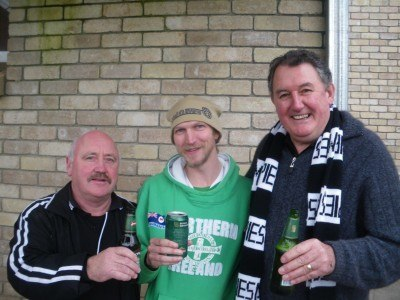 Mingling with the Forth fans in Tasmania