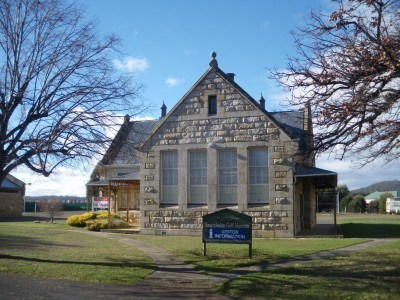 A church in Bothwell, Tasmania