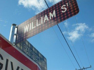 Scottish tartan street signs in Bothwell