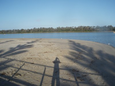 Silhouette Selfie at Lakes Entrance in Victoria