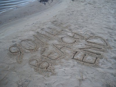 I signed the end of 90 mile beach