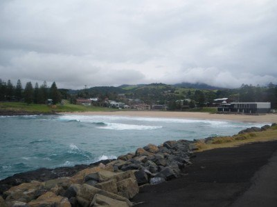The beach at Kiama