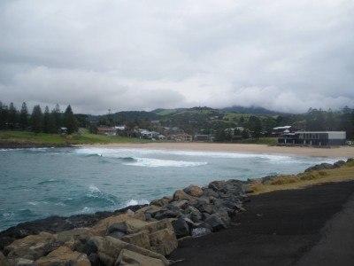 The beach at Kiama