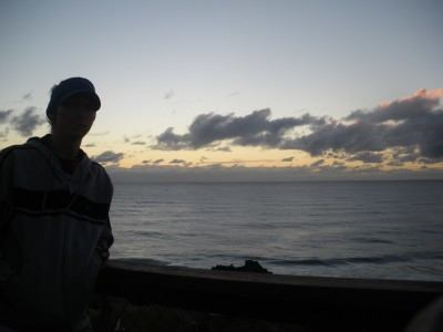 Sunrise at Point Danger at the NSW/Queensland Border