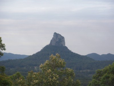 One of the jagged Glasshouse mountains