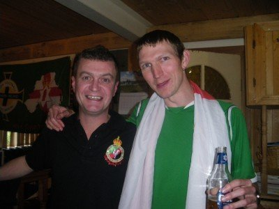 Drinking with ex Glentoran player Robbie Craig in the Belfast Basement, Penrith