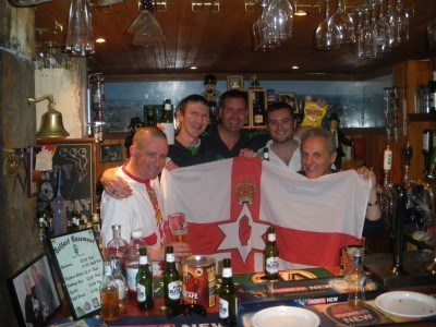 With the lads in the Belfast Bar in Penrith