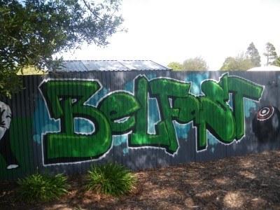 Graffitti in Belfast, New Zealand