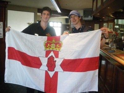 Sam and I in Robbie's Bar, Belfast, New Zealand