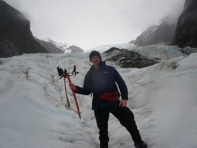 On the glacier hike on an icy cold day in Franz Josef in 2010