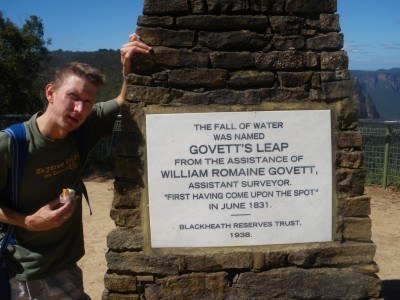 Hiking near Govett's Leap