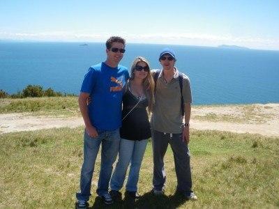 Steve, Flavia and I walking up Mount Manganui