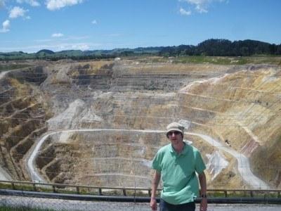Amazing views at Waihi Gold Mines.