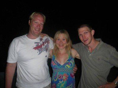 With my hosts in Aranda, Australian Capital Territory