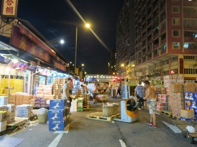 Madness at Yau Ma Tei fruit market at 5am