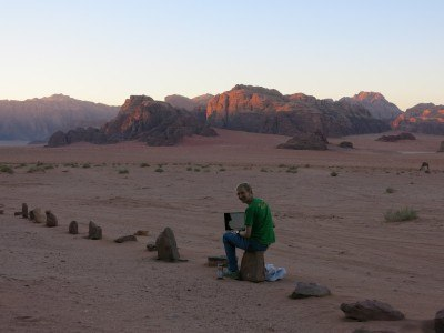 Travel writing in Wadi Rum, Jordan