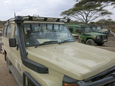 Our jeep in the Serengeti
