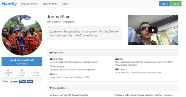 Jonny Blair on Plansify
