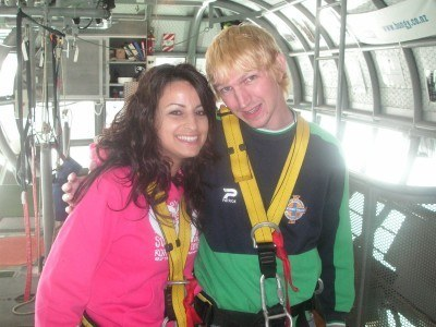 Irish backpacker Ornella and I in Auckland back in 2007