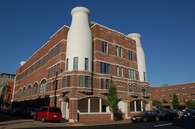 The Milk bottle apartments in Richmond, VA