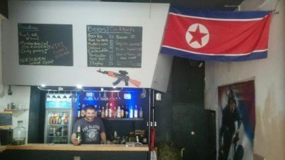 The crazy DMZ North Korean themed bar, Yangshuo