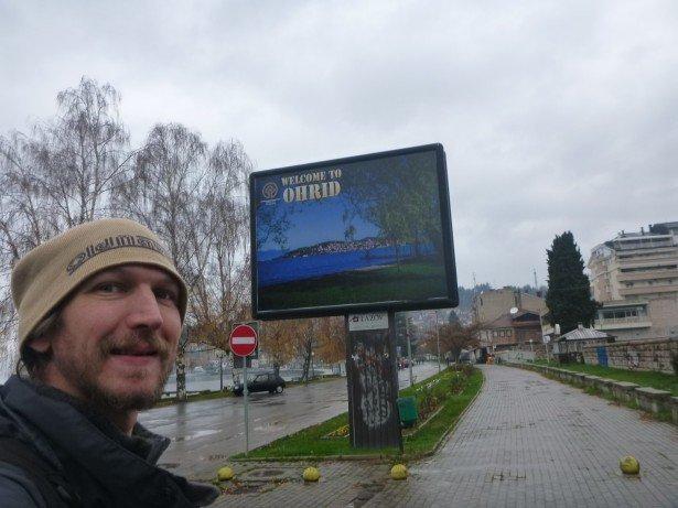 Arrival in Ohrid, Macedonia