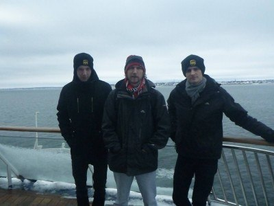 Simon, myself and Daniel on the ferry between Helsingborg, Sweden and Helsingor in Denmark.