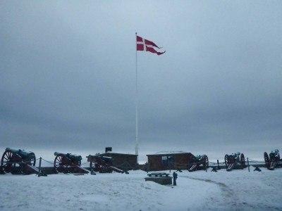 Denmark flag at Kronborg Castle