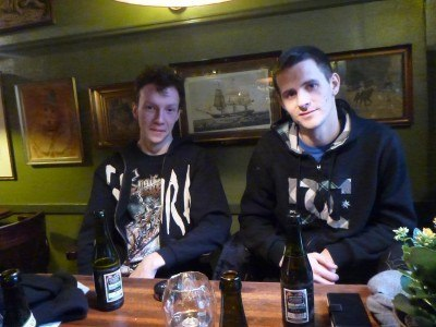Daniel and Simon in Kobenhavneren: Old Danish Pub