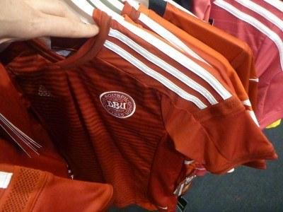 Football shirt shopping in Helsingor