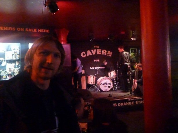 Enjoying music and a drink in the Cavern Club in Liverpool