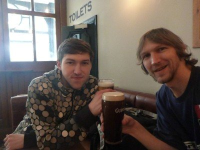 Beer with my brother Danny in town Liverpool
