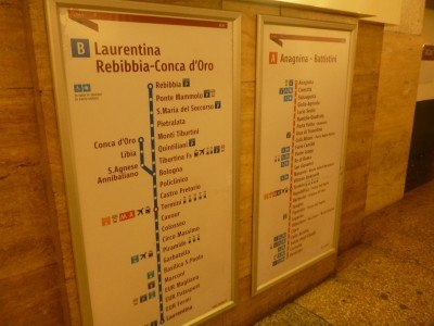 The Metro system in Rome