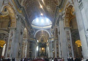 St. Peter's Basilica, the largest church in the world