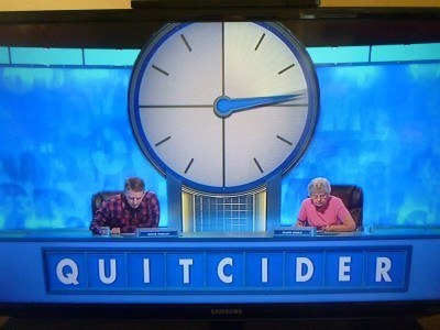 A subliminal message on Countdown