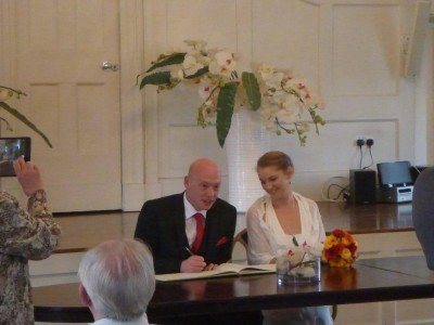 Attending Ben and Maria's wedding in Poole, England